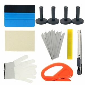Car Wrap Vinyl Kit Window Tint Installation Tool 3m Squeegee Cutter Magnet