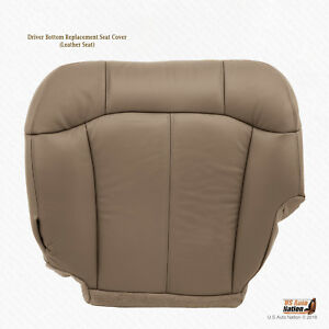 2001 2002 Chevy Silverado 2500 2500hd Driver Bottom Leather Seat Cover Med Tan