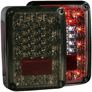 Anzo L e d Tail Lights Smoke For 07 17 Jeep Wrangler jk 311203