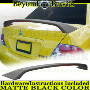 2004 2005 2006 2007 Lancer Ralliart Matte Black Factory Style Spoiler Wing W Led