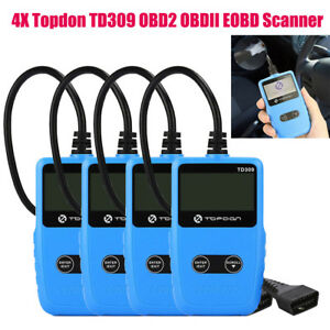 4xtopdon Td309 Obd2 Diagnostic Scanner Can Code Reader Automotive Tool Dtcs