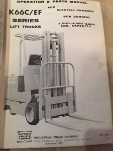 Yale K66c Electric Forklift Parts Catalog Maintenance And Parts Manual Truck