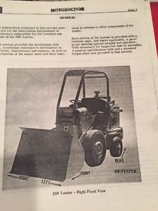 International Hough H 25b Pay Loader Service Manual Photocopy Of Original Manual