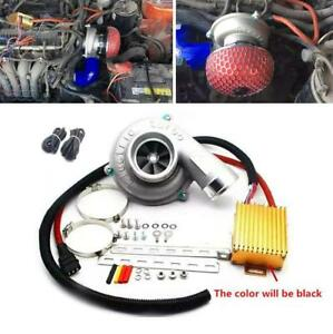 Car Motorcycle Improve Speed Fuel Saver Thrust Electric Turbo Supercharger Kit