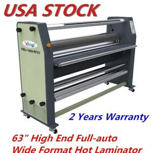 Us Stock 63 1600mm High End Full Auto Wide Format Hot Laminator