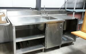 Used Stainless Steel Cabinet With Sink