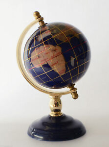 Globe World Map With Metal Frame Golden And Polymer Classic Globe Maps