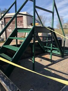Industrial Crossover Stairs Conveyor Steps Pipe Walk Over