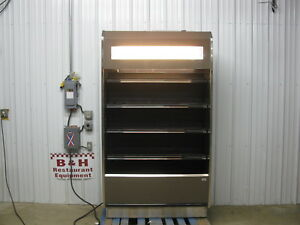 Barker 47 Open Air Refrigerated 4 X 2 Multi Deck Grocery Display Case Cooler
