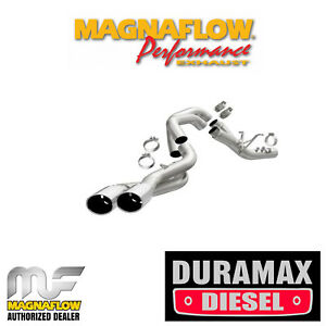 Magnaflow 4 Dpf Back Exhaust Kit 17 18 Silverado 25003500 6 6 Duramax Stainless