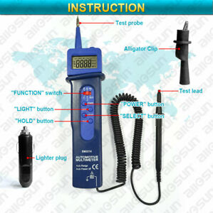 Digital Automotive Dmm Pen Type Multimeter Autorange Portable With Spotlight