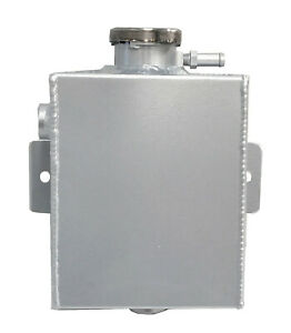 Aluminum Coolant Expansion Fill Overflow Tank For Universal 5 1 2 X 4 1 2 X 3
