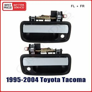 Pair Chrome Exterior Door Handle For 95 04 Toyota Tacoma Front Driver Passenger