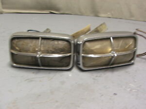 1966 Pontiac Grand Prix front Park Signal Lamps Sold As Pair