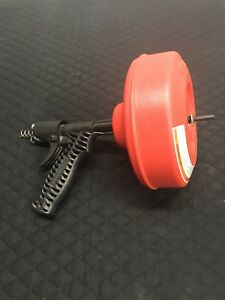 Ridgid Plumbing Power Spin Drain Cleaner Snake Auger Cable Tool Cleaning