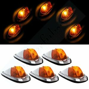 5 Amber Cab Roof Clearance Marker Light For 72 93 Dodge Ram 1500 Truck Teardrop