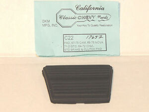 64 72 Chevelle 71 72 Gto M T Clutch Or Brake Pedal Pad Show Quality