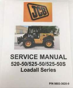 Jcb Handler Loadall Series 520 50 525 50 525 50s Service Manual 9803 3620 9