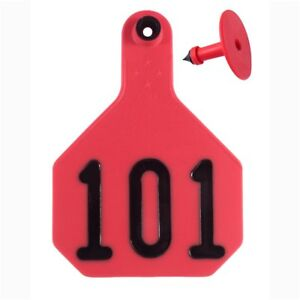 Y tex Large 4 star Tags Cattle Fade Tear Resistent 101 125 Red 25ct Pkg