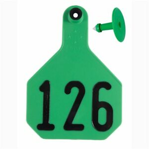 Y tex Large 4 star Tags Cattle Fade Tear Resistent 126 150 Green 25ct Pkg