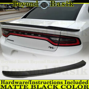 2011 2019 Dodge Charger Matte Black Factory Hellcat Style Spoiler Wing Fin