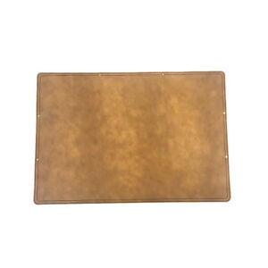 Marlondo Leather Desk Pad Large Tobacco Water Buffalo Leather Suede Backing