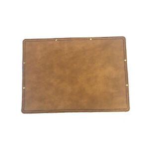 Marlondo Leather Desk Pad Small Tobacco Water Buffalo Leather Suede Backing