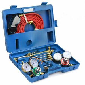 Victor Type Gas Welding Cutting Kit Oxygen Torch Acetylene Welder Tool Case