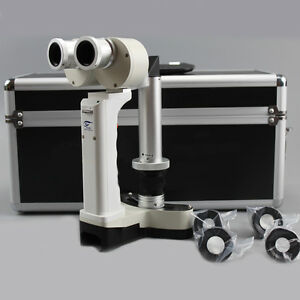 Updated Hand Held Led Lamp Slit Pocket Portable Slit Lamp Ophthalmic Device