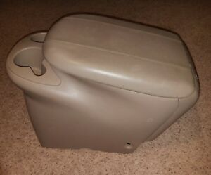 00 01 02 Lincoln Navigator Expedition Rear 2nd Center Console With Lid Arm Rest