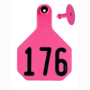 Y tex Large 4 star Tags Cattle Fade Tear Resistent 176 200 Hot Pink 25ct Pkg