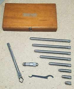 Starrett No 823m Inside Micrometer 40mm To 300mm W Wooden Protective Case