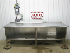 96 X 30 Stainless Steel Heavy Duty Kitchen Cabinet Work Prep Table 8 X 2 6