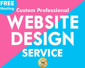 Design Your Custom Website Responsive Design Mobile free Domain Hosting