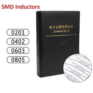 Components Samples Book 0201 0402 0603 0805 Smd smt Inductors Assorted Kit