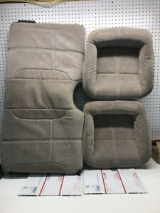 93 02 Chevy Camaro Rear Seats Tan Cloth Oem Nice