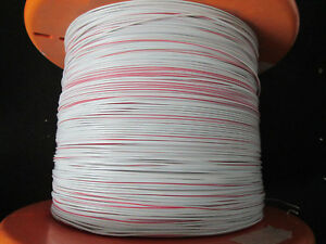 Eis Wire 22 Awg Tc Tin Copper White Red Stripe 19 34 Str Approx 5 000ft