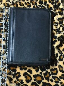 Brand New Franklin Covey Black Leather Planner Agenda Organizer
