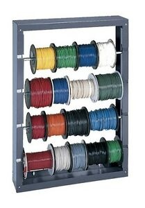 Spool Rack Organizer Storage Holder Wire Wall Mounted Metal Cabinet Garage 4 Rod