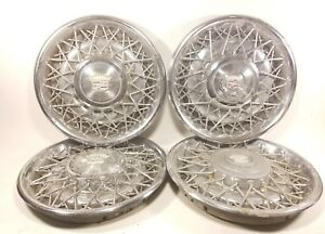 76 84 Cadillac Deville Calais Fleetwood Brougham Wire Wheel Covers Hubcaps