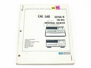 Hp 5315a b 100 Mhz Universal Counter Operating And Service Manual