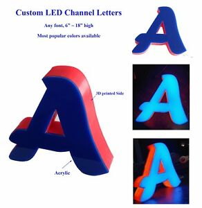 Custom Channel Letter Logo Sign For Show Window Background Wall Store Decor