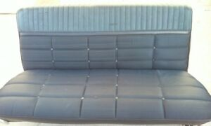 1965 Ford Galaxie 500 Ltd 4 Door Front Seat With Chrome Pieces Blue Black Color