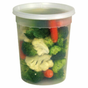 240 Count Plastic Deli Food Container 32 Oz Delitainer With Lids