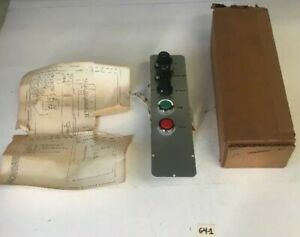 New Boston Gear 63451cp Ratiotrol Local Control Panel Run stop Push Button
