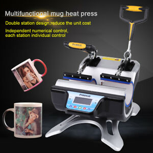 Digital Heat Press Transfer Sublimation Machine W 2 Pad For Cup Coffee Mug 11oz