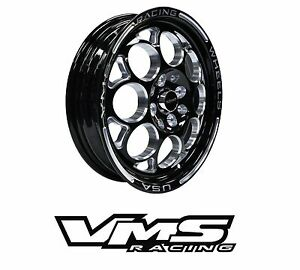15x3 5 Vms Racing Modulo Skinnes Black Silver Rims Wheels 4x100 4x114 Et10 X2