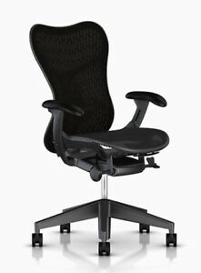 Herman Miller Black Mesh Mirra 2 Chair With Lumbar Support