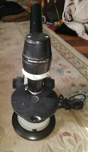 Vintage Bausch Lomb Lab Microscope electronic Working