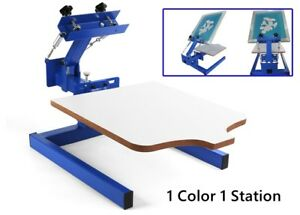 1 Color 1 Station Silk Screen Printing Machine Press Diy T shirt Press Printing